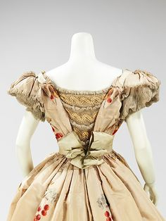 Evening Dress: Back View, House of Worth 1898, French, Made of silk