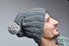 Gray Slouchy Beanie Hat Mens Beanie Hand Knit Slouchy Beanie Hat Mens Winter Accessories men beanie Knit mens hat Knit hat for men men beanie hat beanie for men male hat Knit hat handmade hat men gray gift for men hat for men valentine's day gift 25.00 USD #goriani
