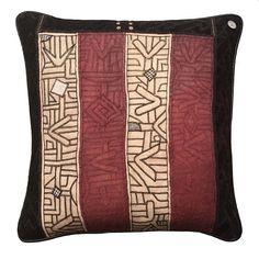African Kuba Cloths Pillow 23 x 23 Tribal People, Eye For Detail, X 23, Vintage Cotton, Lapel Pins, Textile Art, Cotton Linen, Cloths, Hand Weaving