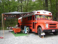 paint/reno an old school bus. use as camper. sure is cheaper than an Airstream.
