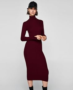 Image 2 of LONG RIBBED DRESS from Zara