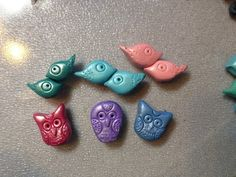 Owl and Bird Beads You Choose Color by TealwaterDesigns on Etsy