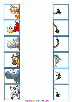 Ocean Animals Activities, Cut and Paste Puzzles, Matching Games Educational Activities For Kids, Animal Activities, Montessori Activities, Book Activities, Kids Learning, Preschool Centers, Preschool Math, Kindergarten Worksheets, Free To Use Images