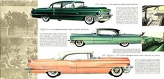 1956 Cadillac Series 62 Sedan, Coupe DeVille, and Sedan DeVille