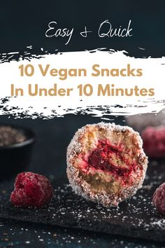 Sick of only snacking fruits all the time? Check out these healthy vegan snacks that are prepared in less than 10 minutes! #vegansnacks #healthysnacks #veganrecipes #plantbased Vegan Snacks On The Go, Healthy Vegan Snacks, Vegan Recipes Plant Based, Vegan Recipes Easy, Recipes For Beginners, Sick, Sweet, Food, Easy Vegan Recipes