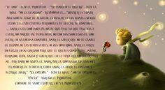 """DIÁLOGO SOBRE AMAR Y QUERER ENTRE EL PRINCIPITO Y LA ROSA.     -""""Te amo"""" - dijo el principito... -""""Yo también te quiero"""" - dijo la rosa. -""""..."""