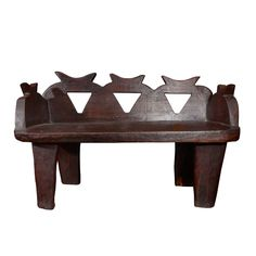 Ethiopian Hand Carved Bench