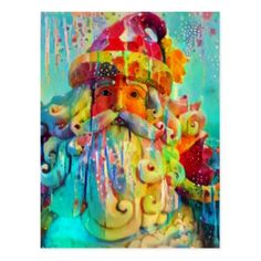 Merry Christmas from Santa Postcard - holiday card diy personalize design template cyo cards idea