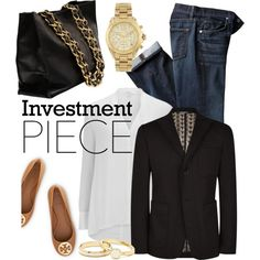 investment piece by maria-maldonado on Polyvore featuring Helmut Lang, Dolce&Gabbana, Tory Burch, Chanel, Michael Kors and investmentpiece