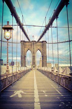 #Brooklyn Bridge #New York I would like to recreate the scene from Newsies! Walk across, look down and yell!