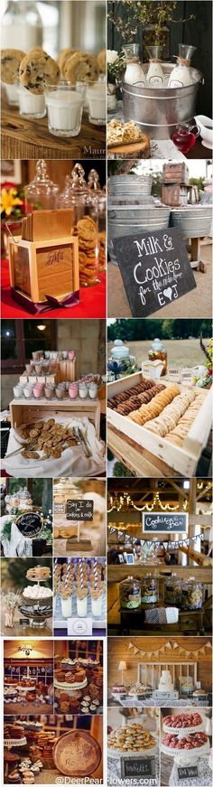 Country wedding reception food inspiration and ideas