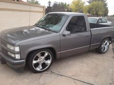 Grey GMC Pickup