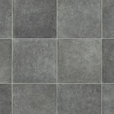 Featuring a tile design this vinyl is sure to transform your living space from drab to fab. Offers a wear layer of 0.20mm and 2.80mm thickness which makes it durable and hard-wearing. Comes in rolls of 2,3 and 4-meter width. It has a warranty of 10 years. . Vinyl Flooring Uk, Cushioned Vinyl Flooring, Stone Flooring, Geometric Cushions, Grey Tiles, Room Dimensions, Floor Space, Tile Design, Interior Lighting