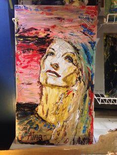 """""""AINA"""" Painted by AAGOT☀️    🎨 AAGOT art studio©   🎨 Studio JALLAHARI©  👁 Happylife ART gallery (soon) 🇩🇰 LOLLAND HAPPYLIFE©"""