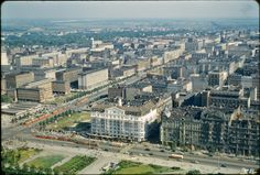City from atop the Palace of Culture in Warsaw, Poland, fot. John William Reps (1960's)