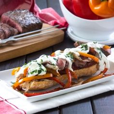 A recipe makeover for this cheesy, rich, full-flavored comfort food favorite - Steak and Cheese Subs!