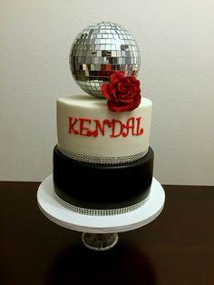 Disco ball cake. Disco Party, Disco Ball, 40th Bday Ideas, Studio 54, Custom Cakes, Parties, Desserts, Kids, Personalized Cakes