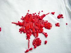 Forever Dying...Close up of the the Lesage embroidered p/e 02 Dior Homme blood spatter shirt.  #ICONIC