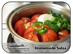 #Homemade Salsa - Only 5 Ingredients!   | #Saladmaster #Recipes |  For more, check out www.recipes.saladmaster.com  #EatClean #316ti #StainlessSteel #Cookware #LifetimeWarranty