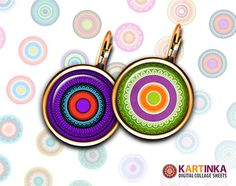 COLORFUL LACED 15mm/13mm CIRCLES  Digital Collage by KARTINKAshop, $3.60