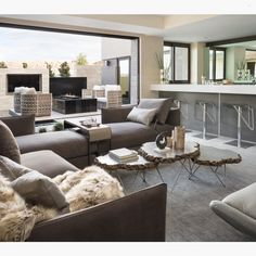Loving this design! This is the perfect way to design a modern space. By Blue Heron Design Build.... - Interior Design Ideas, Interior Decor and Designs, Home Design Inspiration, Room Design Ideas, Interior Decorating, Furniture And Accessories