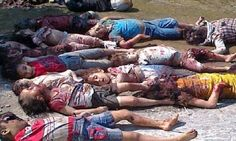 Slaughtered children following ISIS capture of Tikrit city