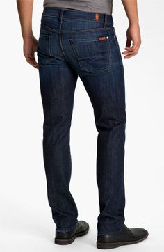 eee1f551a809 7 For All Mankind®  Slimmy  Slim Straight Leg Jeans (Los Angeles Dark