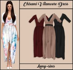 LumySims: Chisami Vilamoure Dress • Sims 4 Downloads