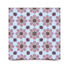 Pack of 12 Handmade 8 x 8-inch Ahfir Pink Stars Cement and Granite Moroccan Tile (Morocco)