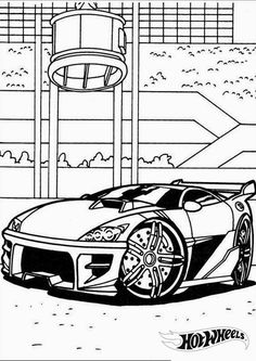 Hot Wheels car racing coloring  Coloring Pages  Pinterest