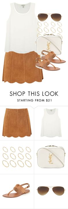 """Style #10373"" by vany-alvarado ❤ liked on Polyvore featuring Joie, ASOS, Yves Saint Laurent and Ray-Ban"