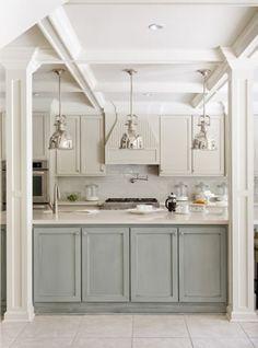 light gray cabinets