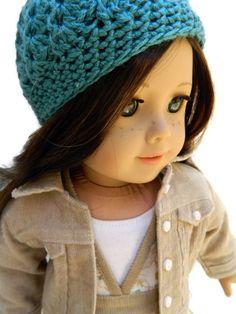 American Girl Doll Clothes Crochet Hat by 18Boutique on Etsy
