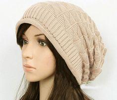 Beige /Coffee/ Black  Women's Knit Hat Winter by happyfamilyjudy, $28.00