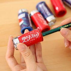 1 개 콜라 연필 깎이 고정 사무실 학교 용품 깎이 학교 귀여운 깎이 도매