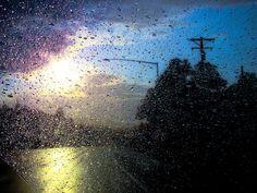 Rain by desi beee, via Flickr  I love a rainy night