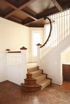 19th Century Home Interior Syle Design -- really like the unusual detail on the spindles coming down this staircase