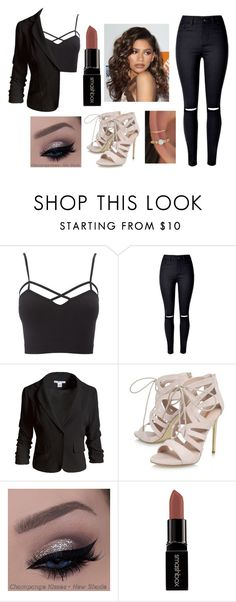 """Outfit #19"" by unicornicamitha on Polyvore featuring Charlotte Russe, Sans Souci, Carvela, Smashbox, Coleman and plus size clothing"