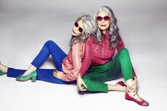 Kind of a Thelma and Louise gig for older women! #Greying Hair #Aging