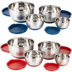 Paderno 4-piece Mixing Bowls with Lids