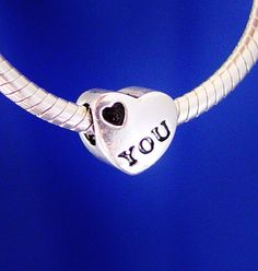 Love You Heart European Charm Bead Silver Plated by rbargains, $9.75