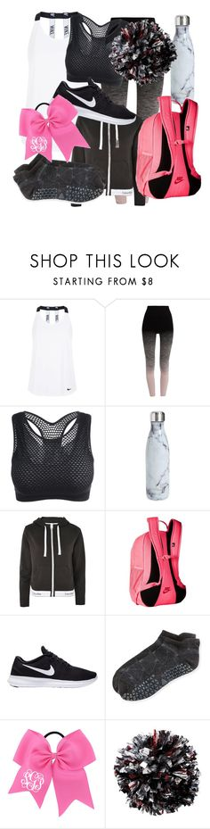 """Cheer Tryouts"" by elena-flip ❤ liked on Polyvore featuring NIKE, Pepper & Mayne, S'well, Calvin Klein and Tavi Noir"