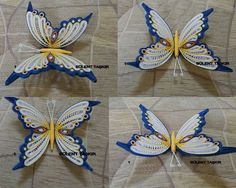 Quilling Butterfly, Quilling Paper Craft, Quilling 3d, Paper Butterflies, Butterfly Crafts, Paper Crafts, Quilling Ideas, Paper Quilling For Beginners, Paper Quilling Tutorial