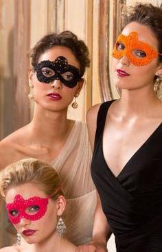 Go Incognito Masks Free Crochet Pattern from Aunt Lydia's Crochet Thread #halloween #mardi gras