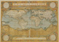 Mappa Del Mondo - Antique Style World Map Poster Print bij AllPosters.nl