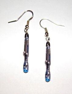 WANT!Dr Who  Sonic Screwdriver  Earrings Tardis Matt Smith by Murals4U, $7.99