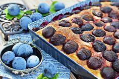 Bögrés szilvás kalácspite | Rupáner-konyha Blueberry, Cake Recipes, Sweets, Cookies, Fruit, How To Make, Food Cakes, Drinks, Recipes