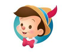 Pinocchio by Jerrod Maruyama Arte Disney, Disney Fan Art, Disney Pixar, Disney Princes, Cruella Deville, Cartoon Network Adventure Time, Adventure Time Anime, Classic Disney Characters, Cartoon Characters