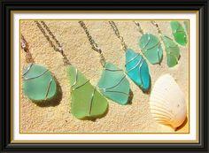 Sea glass necklace.  I found many pocket fulls of this on the Lake Superior shores of Ontonagon, MI