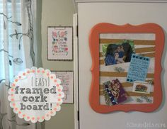 52 Mantels: Easy Framed Cork Board {+ Quick Push Pins!!}